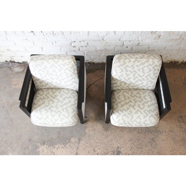 Dunbar Furniture Edward Wormley for Dunbar Rocking Lounge Chairs - a Pair For Sale - Image 4 of 10