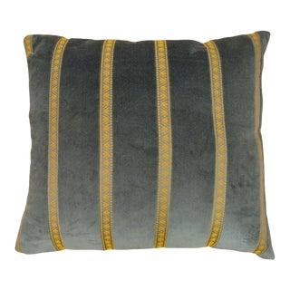 Vintage Art Deco Velvet Pillow For Sale