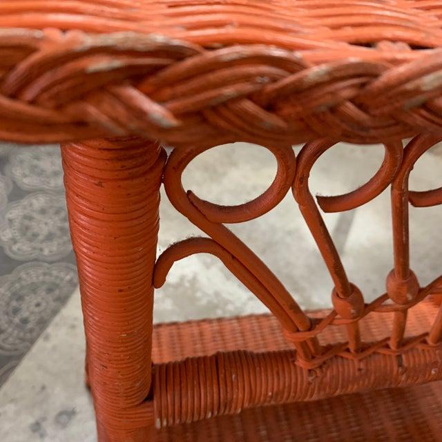 Wicker Polo Ralph Lauren Wicker Side Table For Sale - Image 7 of 8