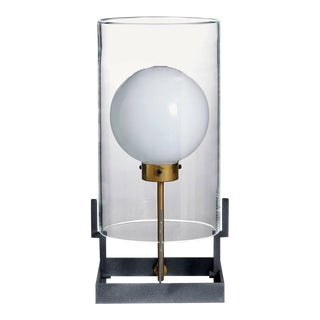 Quati Carlo Moretti Contemporary Mouth Blown Clear Murano Glass Table Lamp For Sale