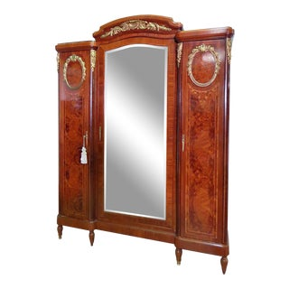 Regency Style Inlaid Armoire For Sale