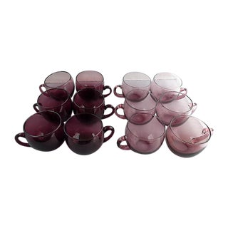Amethyst Punch Cups - Set of 12