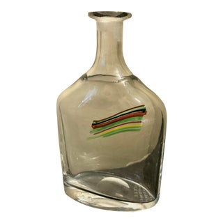 Diminutive Kosta Boda Art Glass Bottle by Bertil Vallien For Sale