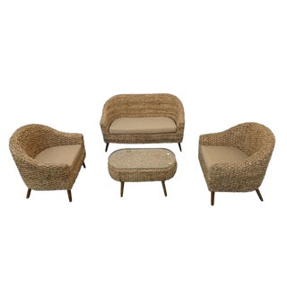 Modern Uluwatu Rattan Set- 4 Pieces For Sale
