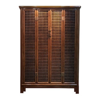 19th Century Vintage Qing Dynasty Hand Crafted Openwork Display Cabinet For Sale