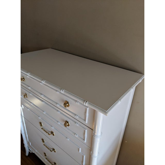 1950s 1950s Hollywood Regency Thomasville Allegro Faux Bamboo Dresser For Sale - Image 5 of 9