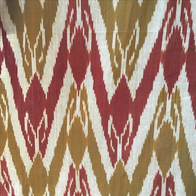 Handwoven Uzbek Ikat Fabric - 3 Yards - Image 10 of 10