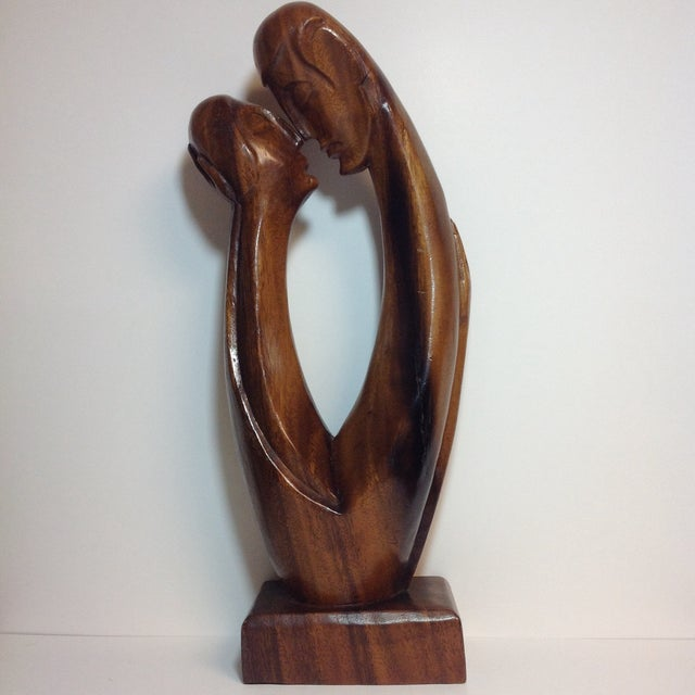 Mid-Century Carved Sculpture - Image 2 of 9