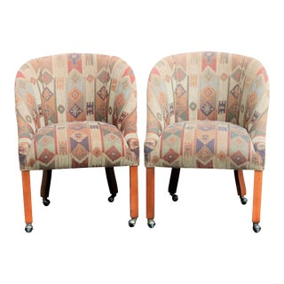 Southwestern Club Chairs, A Pair