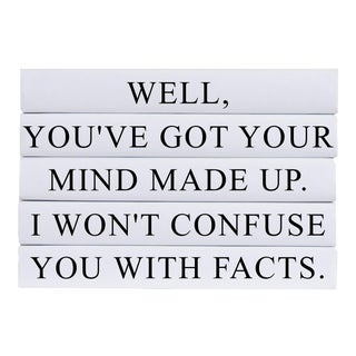 Confuse You With Facts Quote Book Stack - 5 Pieces For Sale