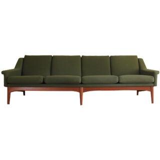 Bramin Mid-Century Danish Modern Green Sofa