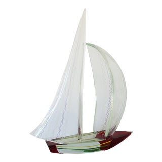 Alberto Dona' Sailboat Sculpture For Sale