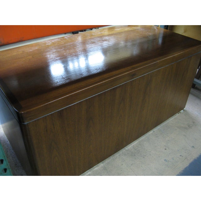 Brown Art Deco Walnut Desk For Sale - Image 8 of 9