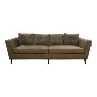 Knox Warren Mid-Century Style Charcoal Sofa