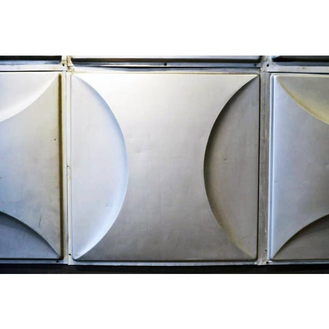 Vintage Aluminum Wall Panels- Set of 9 For Sale - Image 4 of 10