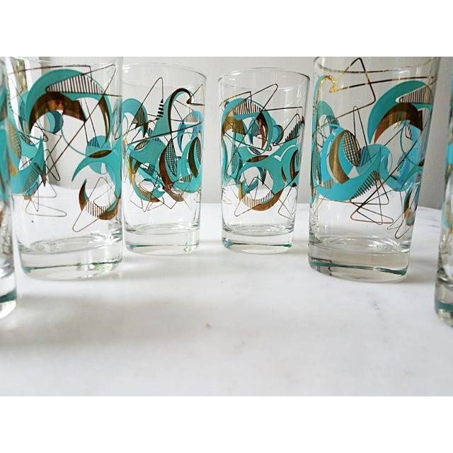 Mid Century Atomic Glasses - Set of 6 - Image 5 of 9