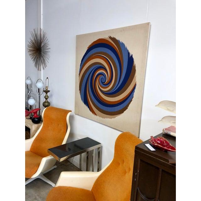 "Boho Chic Original Curry Melin ""Hurricane"" Swiss Fabric Print For Sale - Image 3 of 7"