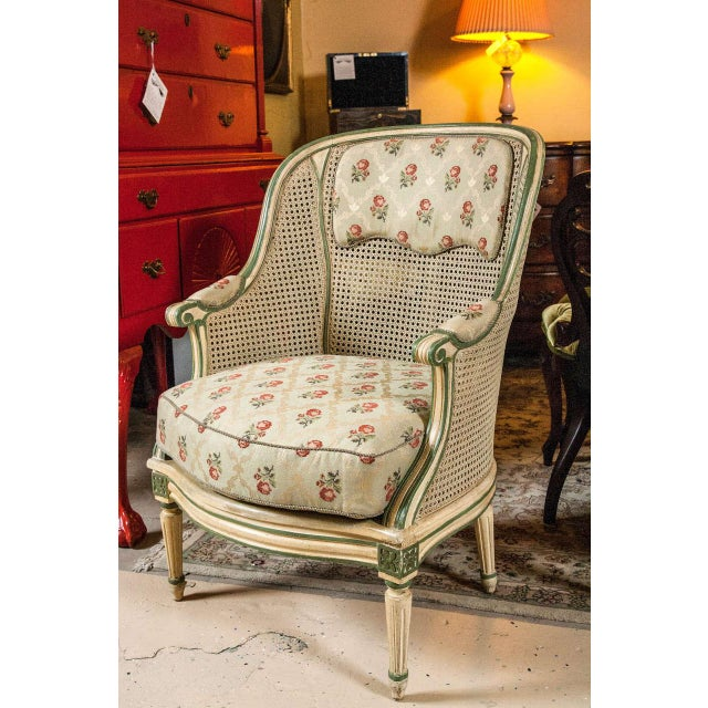 Louis XVI Style Bergere Chairs - A Pair - Image 2 of 7