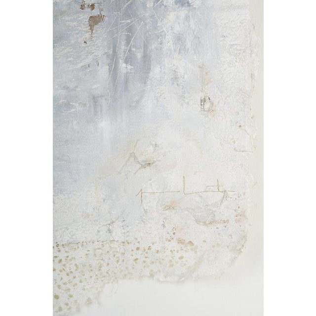 Abstract Japanese Lace Mixed Media on Canvas by Jane Lorentsen For Sale - Image 3 of 5