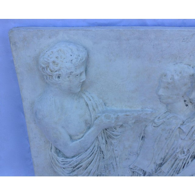 Vintage Hollywood Regency Greco-Roman Sculptural Wall Art - Image 8 of 11