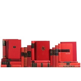 Red & Black Mid-Century Book Decor - Set of 20
