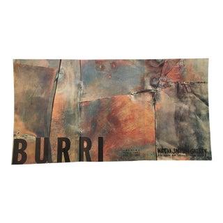 Alberto Burri 1960 Exhibition Poster Martha Jackson Gallery New York City Brutalist Assemblage For Sale