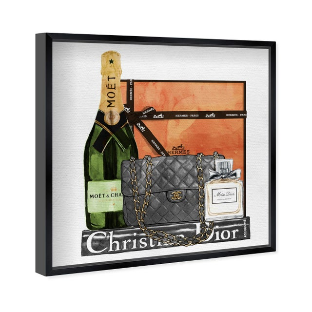 Oliver Gal 'Delicate Perfume and Books' Framed Art For Sale - Image 4 of 7
