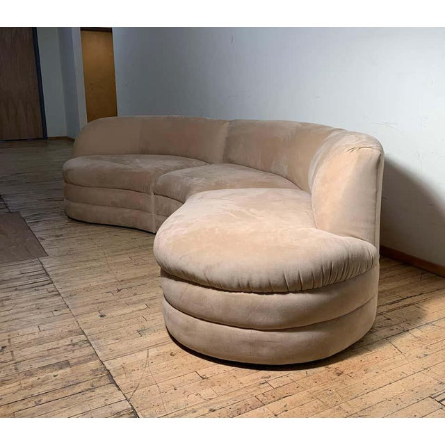 Vintage Sectional Cloud Sofa attributed to Vladimir Kagan For Sale - Image 9 of 13