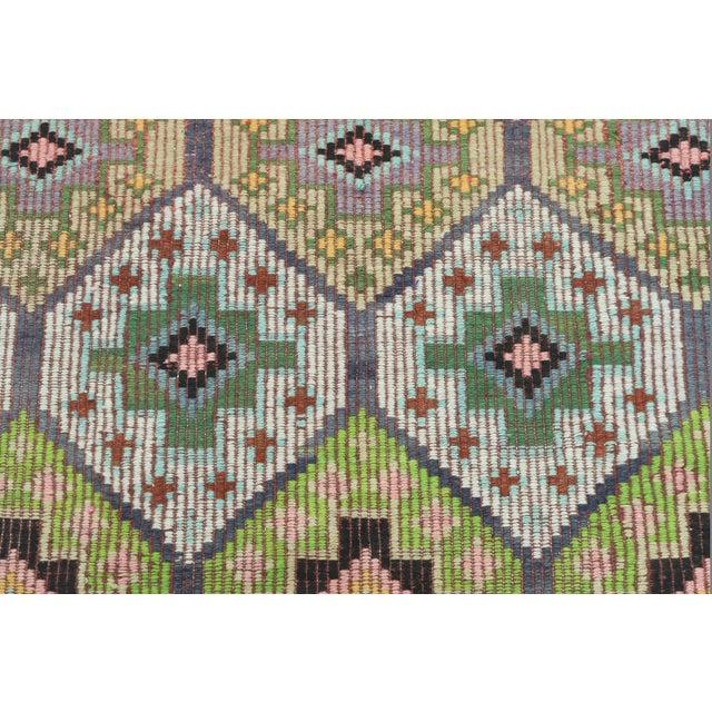 Vintage Turkish Sardes Nomad's Flat Weave Rug For Sale - Image 9 of 12