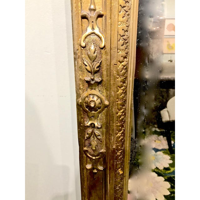 Large 19th Century Antique French Gilt Putti Mirror For Sale In Los Angeles - Image 6 of 9