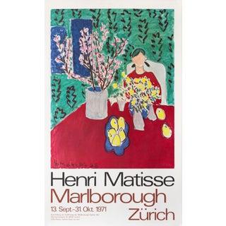 1971 Original Matisse Exhibition Poster, Marlborough Zurich For Sale