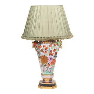 Large Mason's Ironstone Vase Mounted as a Lamp For Sale