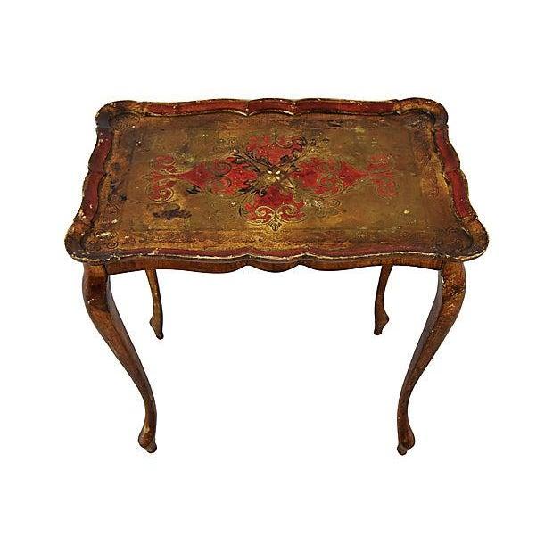 1950s Italian Venetian Florentine Nesting Tables - Set of Three For Sale - Image 4 of 13