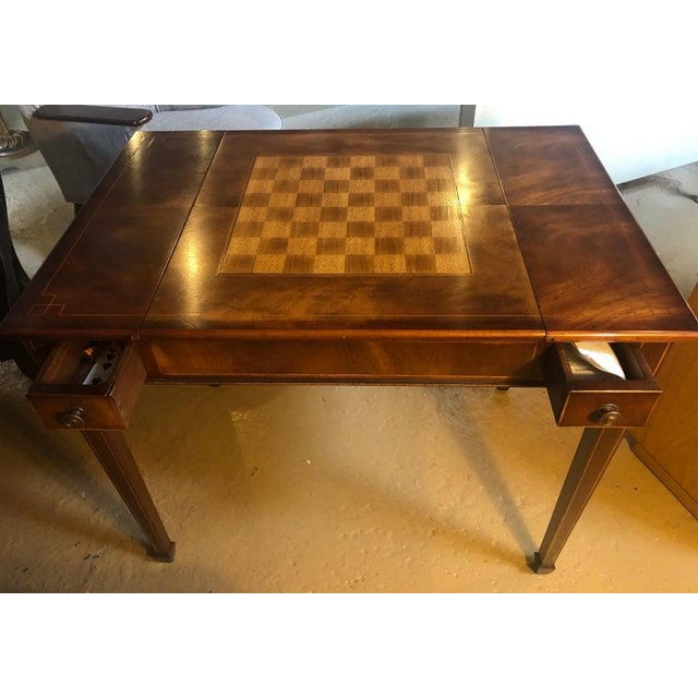Federal Mahogany Federal Style Smith and Watson Game / Card Table For Sale - Image 3 of 13