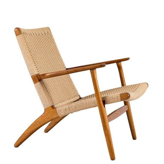 Hans Wegner CH-25 lounge chair designed in 1951 and produced by Carl Hansen & Son.