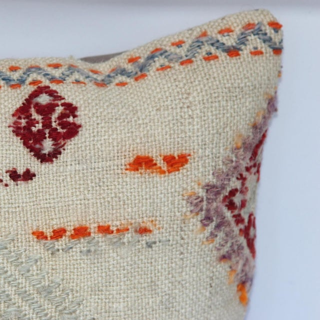 Turkish Handmade Kilim Pillow Cover - Image 6 of 11