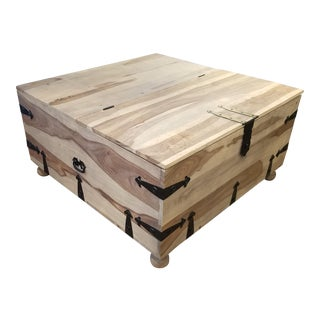 Rustic Trunk Coffee Table For Sale