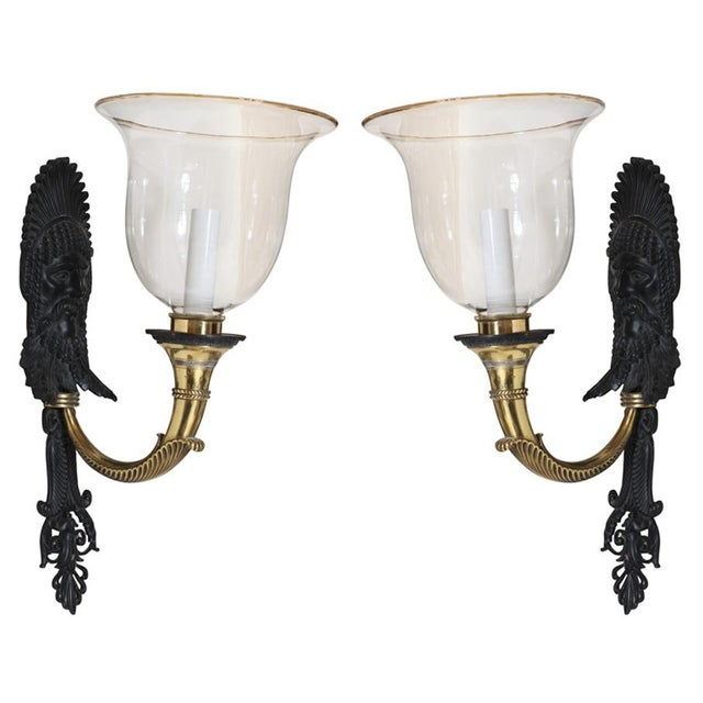 Bronze and Brass Sconces by e.f. Caldwell - a Pair For Sale - Image 9 of 9