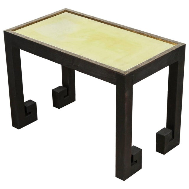 Paul Marra Transitional Paul Marra Distressed Greek Key Side Tables - a Pair For Sale - Image 4 of 12