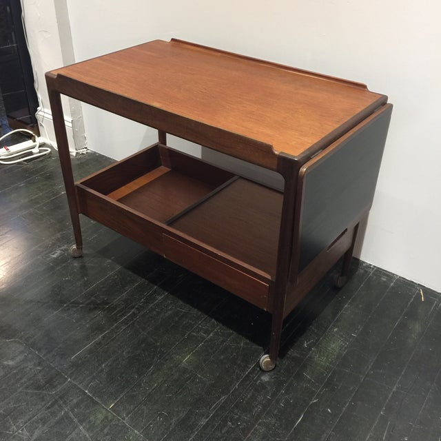 Kofod Larsen for G-Plan Drop Leaf Bar Cart For Sale In San Antonio - Image 6 of 11