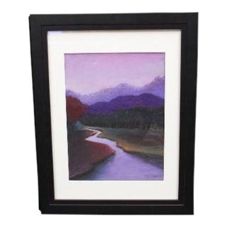 Pastel Drawing Titled Dawn by Lily Kwan For Sale