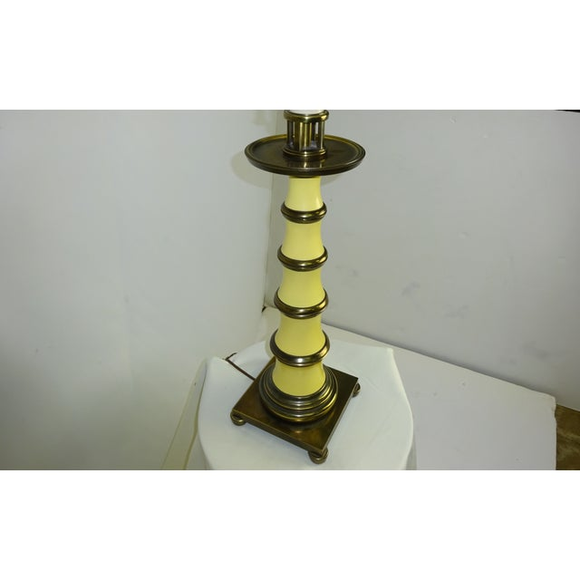 Faux Bamboo Enamel Table Lamp c1960 - Image 6 of 9