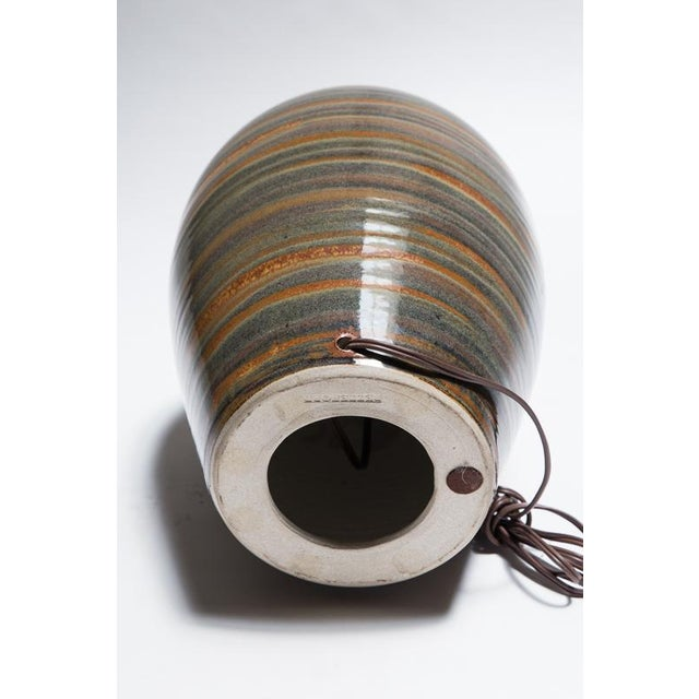 Signed Petteford Studio Pottery Lamps - A Pair For Sale In Los Angeles - Image 6 of 6