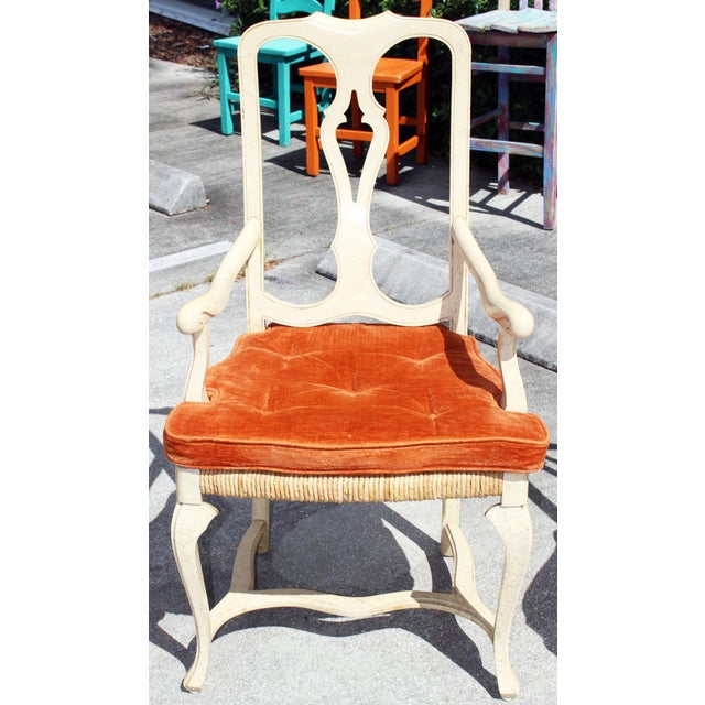 1960s Vintage Painted Dining Chairs- Set of 8 For Sale - Image 12 of 13