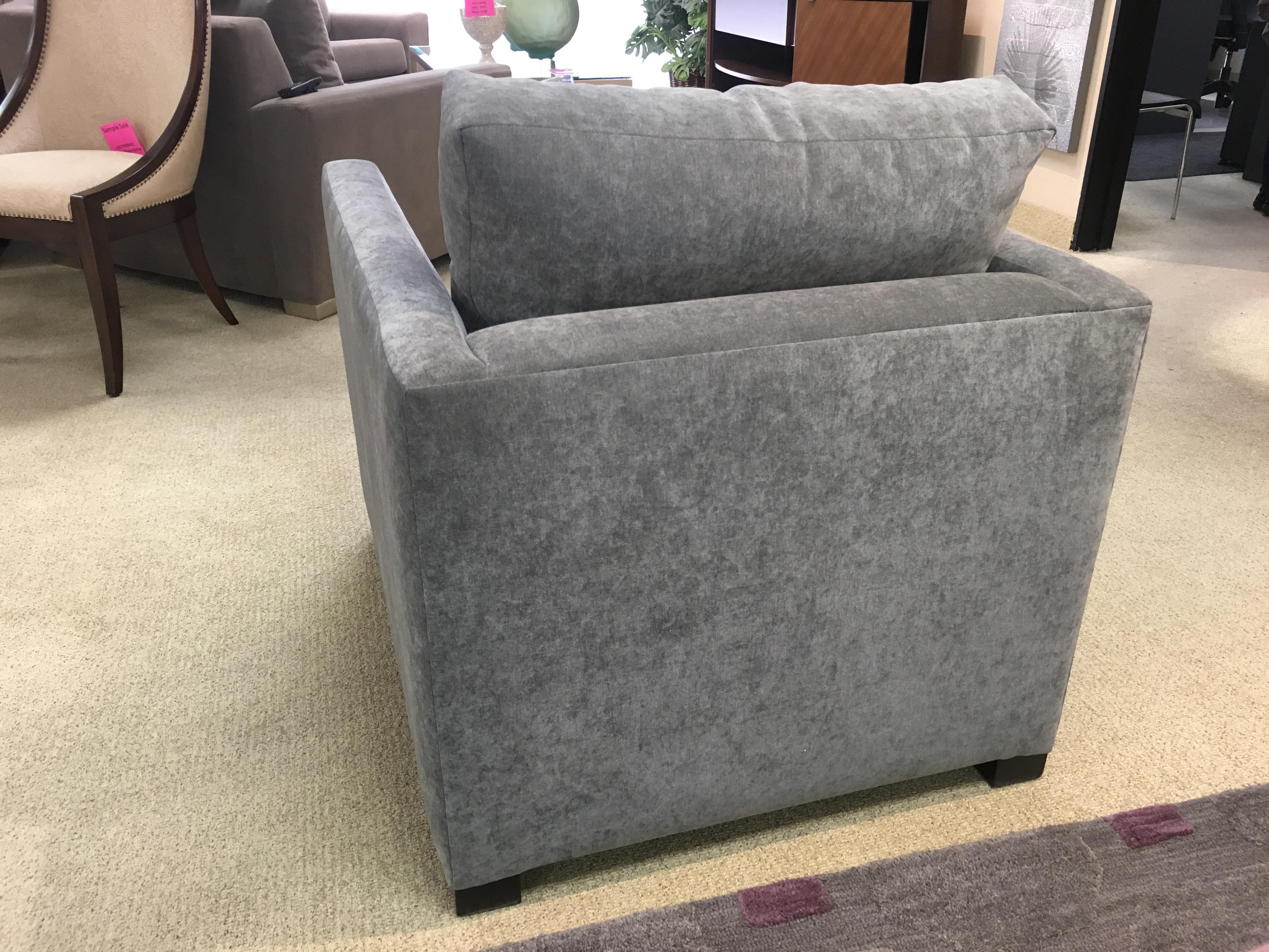 Attrayant Burton James Velvet U0026 Walnut Vero Chair For Sale   Image 4 ...