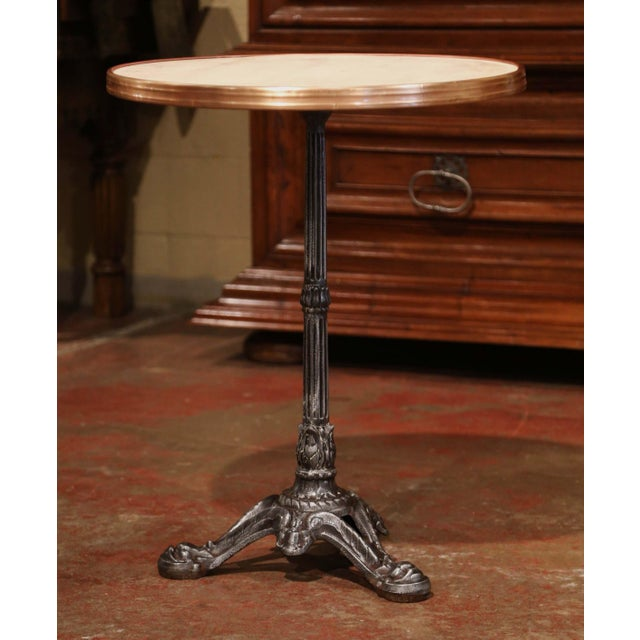 Black 19th Century Napoleon III French Iron and Wood Gueridon Pedestal Table For Sale - Image 8 of 8