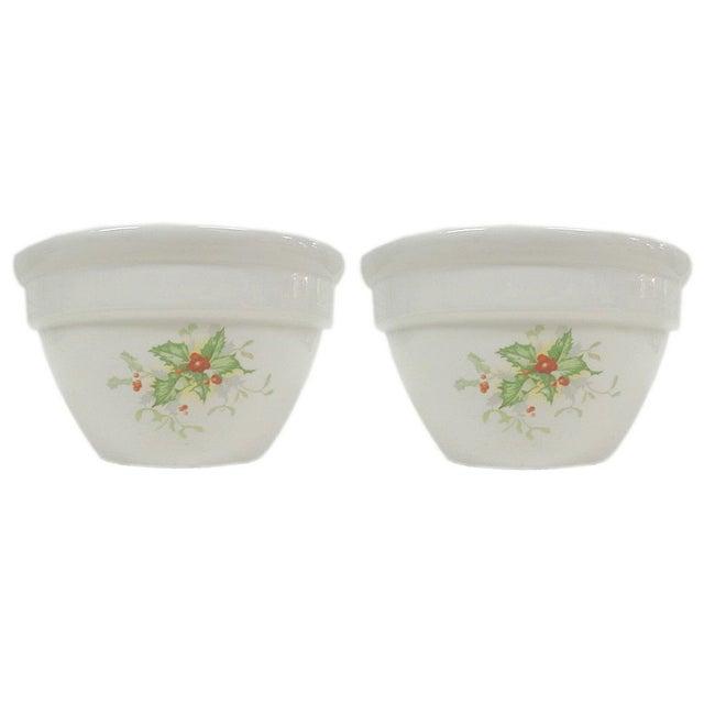 Holly Leaf Halls China Bowls - Pair - Image 1 of 5