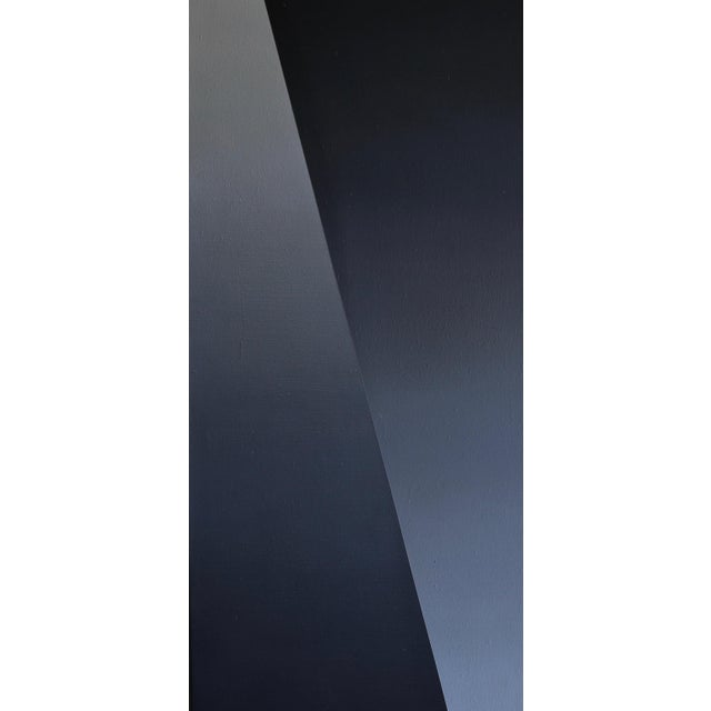 """Donald Lewallen """"Crossover"""" hard edge abstract painting, 1968. Measures: 24"""" x 96""""."""