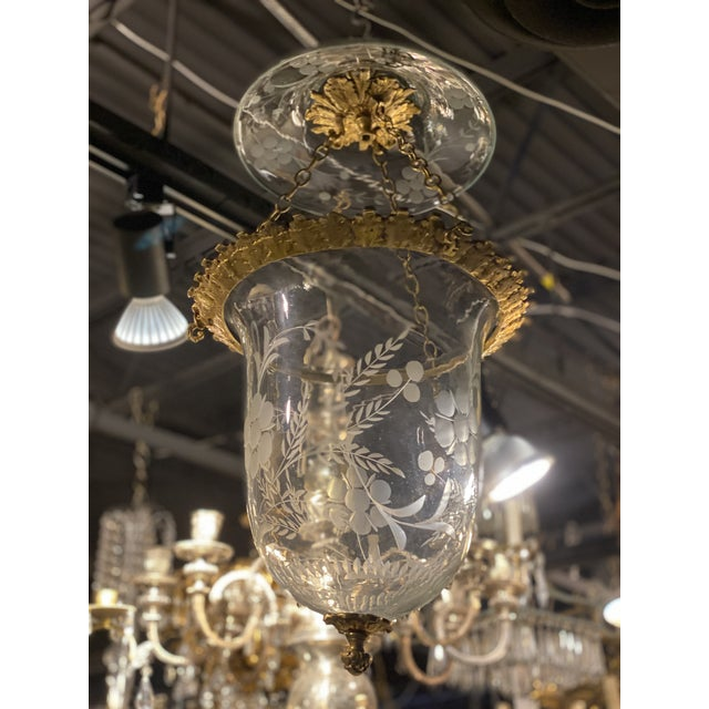 French 1930s French Gilt Bronze Lanterns For Sale - Image 3 of 3