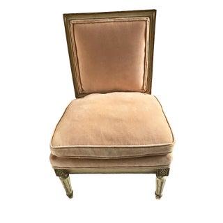 Vintage Louis XVI Style Slipper Chair